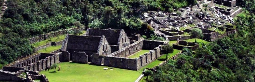 Choquequirao fortified hilltop town, Peru - Credit: Mi Peru