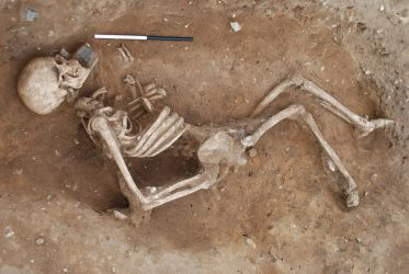 4th century burial - Credit: Will Bowden