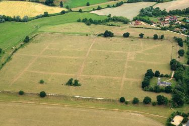 Aerial image of Caistor revealing the defences and street plan - Credit: Mike Page
