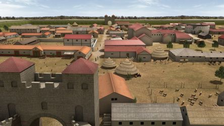 Reconstruction image of Caistor Roman Town - Credit: Norfolk Archaeological Trust