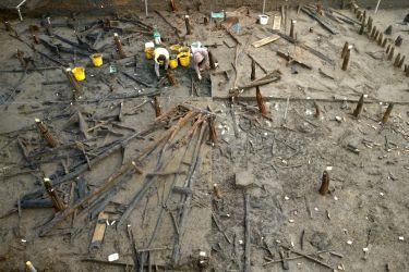 Excavation of roundhouse - Must Farm - Credit: Cambridge Archaeological Unit