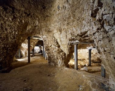 Excavated mining galleries - Credit: Historic England Photo Library