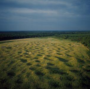 View across Grimes Graves prehistoric Flint Mine - Credit: Skyscan Balloon Photography