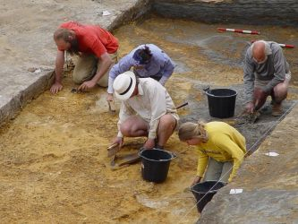 Excavations at Happisburgh - Credit: AHOB/Phil Crabb
