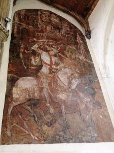 St Peter Mancroft; wall painting of St George - Credit: Michael Loveday