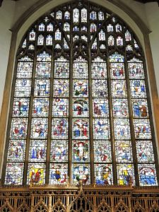 C15th stained glass - Credit: Michael Loveday