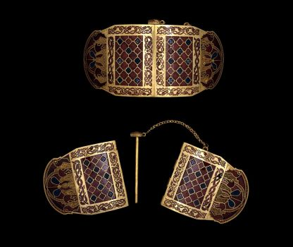 Sutton Hoo shoulder clasps - © Trustees of the British Museum